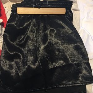 Urban Outfitters Satin Skirt Black Size XS
